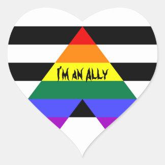 I'm an Ally Heart Sticker