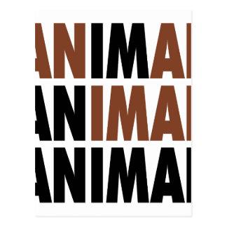 i'm an animal postcard