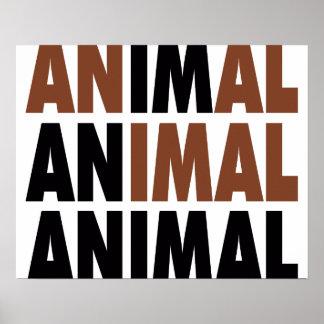 i'm an animal poster