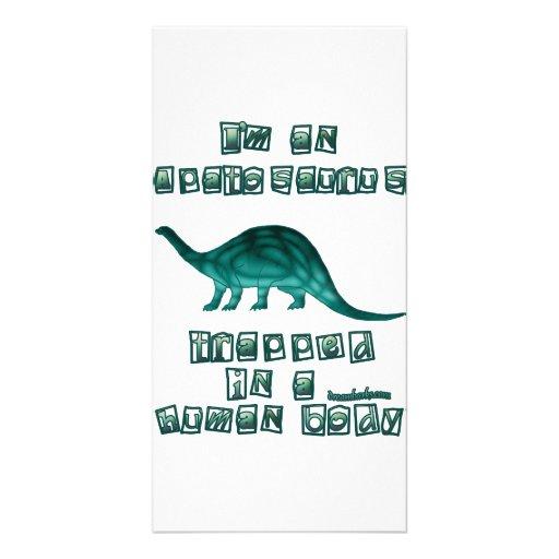 I'm an Apatosaurus Personalized Photo Card
