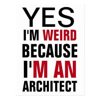 I'm An Architect Postcard