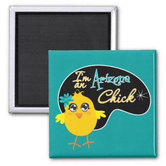 I'm an Arizona Chick Square Magnet