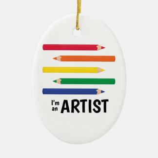 Im an Artist Christmas Ornament