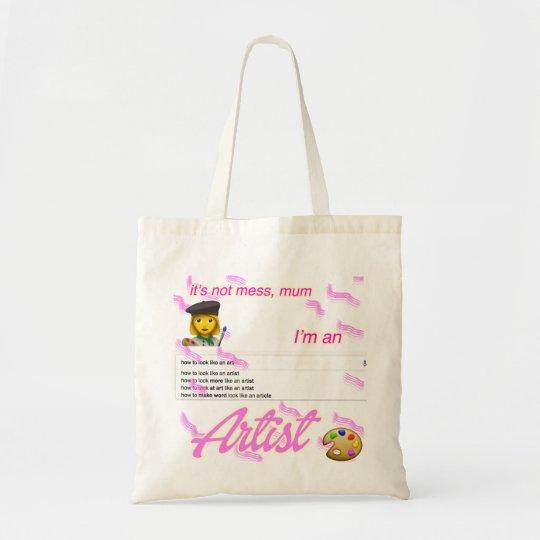 i'm an artist mum tote bag