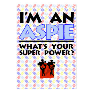 I'm an Aspie. What's Your Super Power? Pack Of Chubby Business Cards