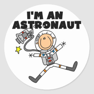 I'm an Astronaut Tshirts and Gifts Classic Round Sticker