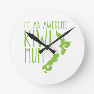 I'm an awesome KIWI MUM New Zealand Wall Clocks