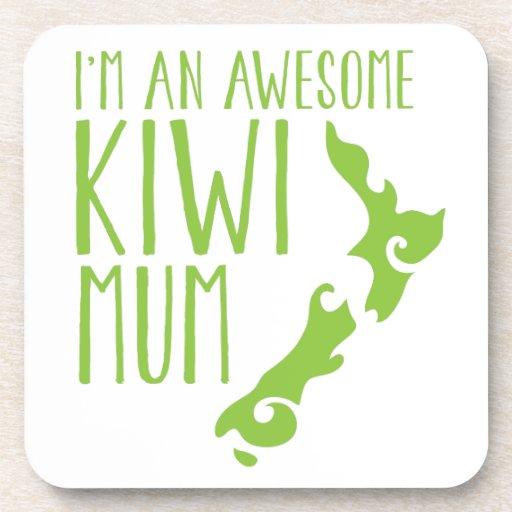 I'm an awesome KIWI MUM New Zealand Beverage Coasters