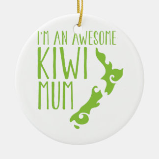 I'm an awesome KIWI MUM New Zealand Christmas Ornament