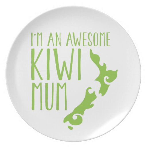 I'm an awesome KIWI MUM New Zealand Party Plate