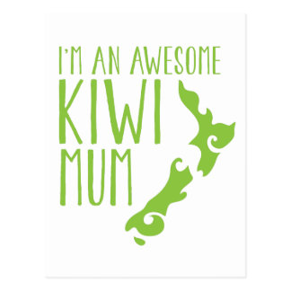 I'm an awesome KIWI MUM New Zealand Postcard