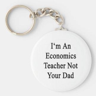 I'm An Economics Teacher Not Your Dad Keychain