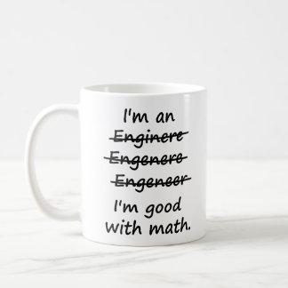 I'm an Engineer I'm Good at Math Basic White Mug