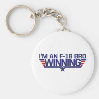 I'm an f-18 Bro Basic Round Button Key Ring