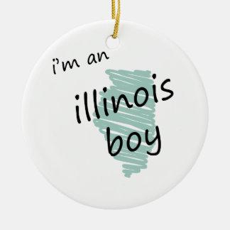 I'm an Illinois Boy Christmas Ornament