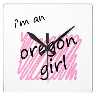 I'm an Oregon Girl Square Wallclock