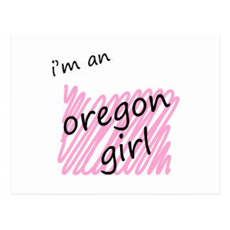 I'm an Oregon Girl Postcard