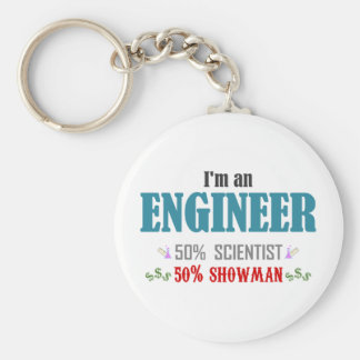 I'm an to engineer basic round button key ring