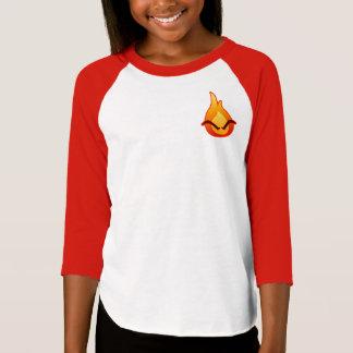 I'm Angry! Girls red Raglan T-shirt