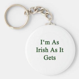 I'm As Irish As It Gets Basic Round Button Key Ring