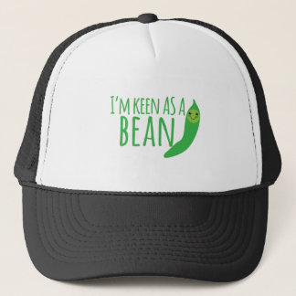 I'm as keen as a bean with cute kawaii beanie trucker hat