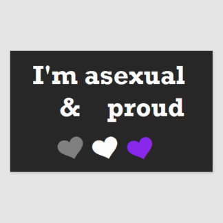 I'm asexual & proud sticker