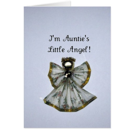I'm Auntie's Little Angel Greeting Card