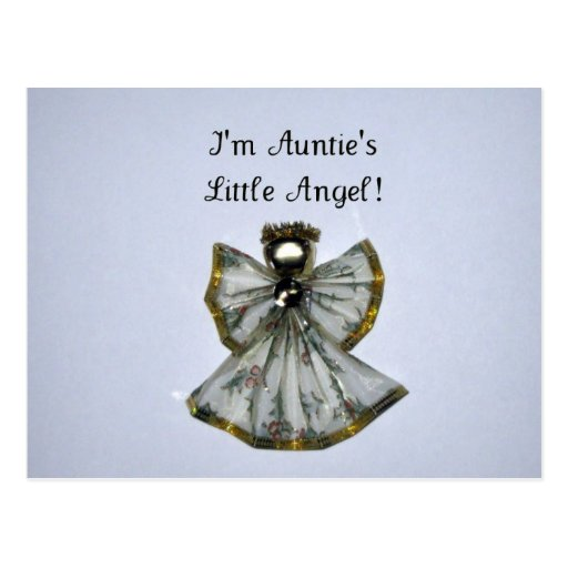I'm Auntie's Little Angel Postcard