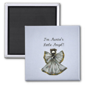 I'm Auntie's Little Angel Square Magnet