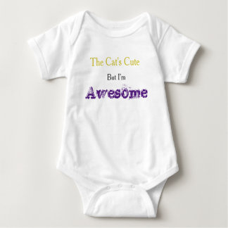 """I'm Awesome"" Cute Slogan Baby Bodysuit"