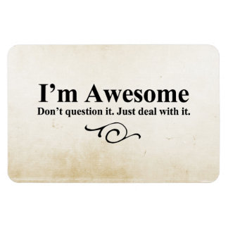 I'm awesome. Don't question it. Just deal with it. Vinyl Magnets