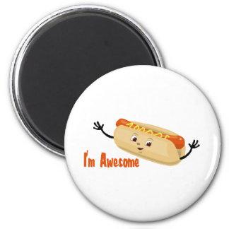 I'm Awesome (hotdog) 6 Cm Round Magnet