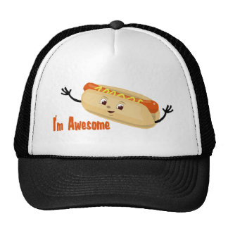 I'm Awesome (hotdog) Trucker Hat