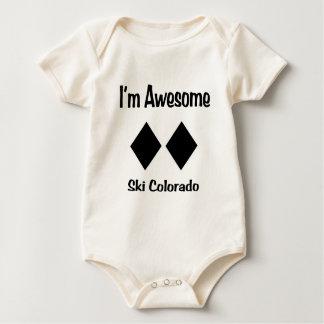 I'm Awesome Ski Colorado Baby Bodysuit