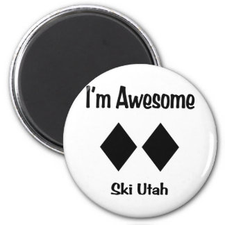 I'm Awesome Ski Utah Magnet
