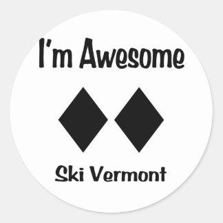 I'm Awesome Ski Vermont Classic Round Sticker