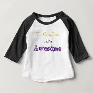 """I'm Awesome"" Slogan Baby Tee"