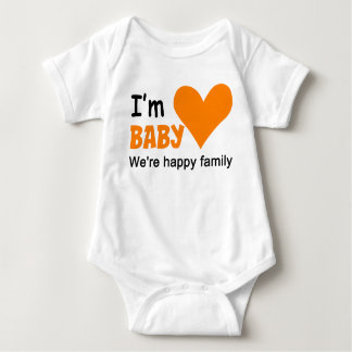 I'm Baby Family Couple Baby Jersey Bodysuit