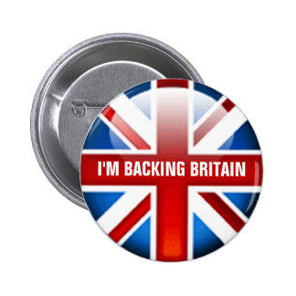 I'm Backing Britain Button Badge