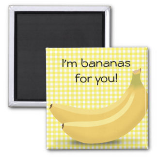 "I'm Bananas for You, Cute ""Love""magnet Magnet"