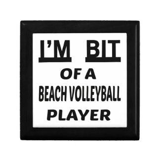 I'm Bit of a Beach Volleyball player Small Square Gift Box