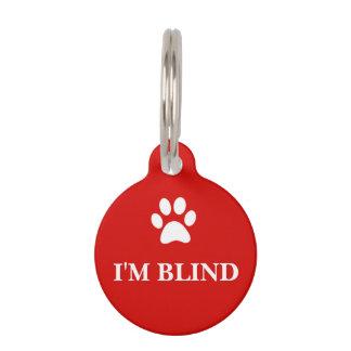 """""""I'M BLIND"""" Awareness Pet Tag"""