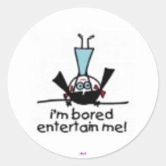 I'm Bored Round Sticker