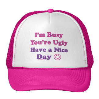 I'm Busy You're Ugly Have a Nice Day Cap