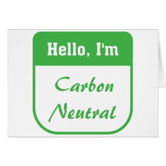 I'm carbon neutral card