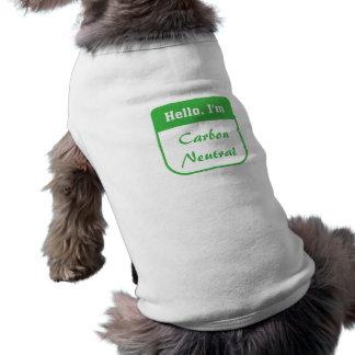 I'm carbon neutral dog t-shirt