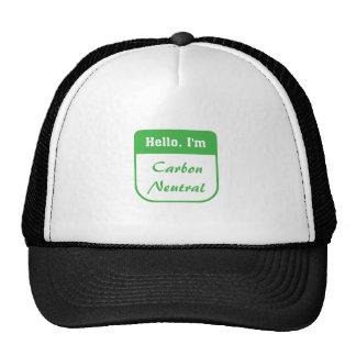 I'm carbon neutral hat