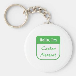 I'm carbon neutral key chain