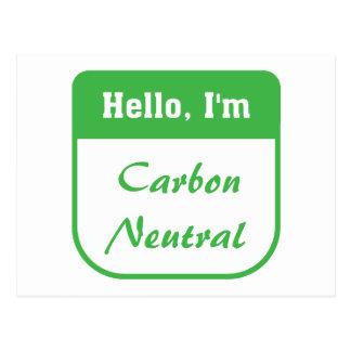 I'm carbon neutral postcard