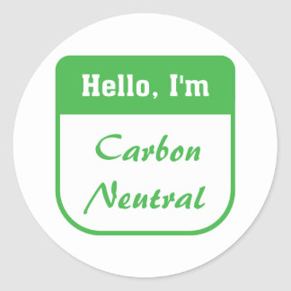 I'm carbon neutral sticker